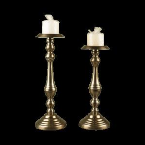 شمعدان دو سایز طلایی